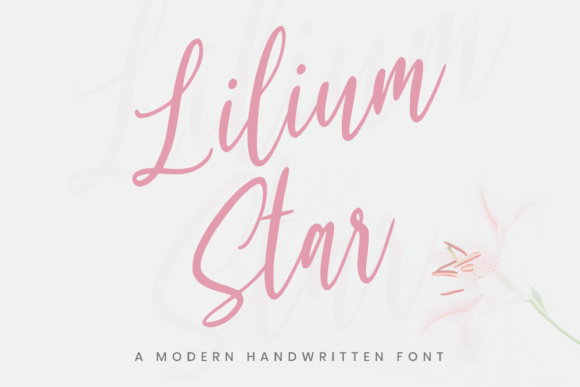 Print on Demand: Lilium Star Script & Handwritten Font By Graphue
