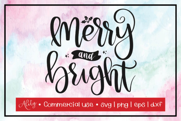 Print on Demand: Merry and Bright | Christmas Graphic Crafts By Ality