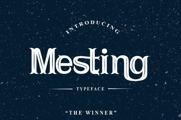 Print on Demand: Mesting Serif Font By TheWinner