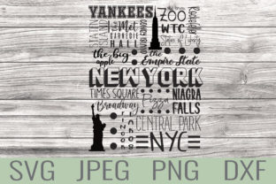 New York Famous Locations & Icons Gráfico Crafts Por Kaela Batson Designs