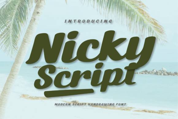 Print on Demand: Nicky Script Script & Handwritten Font By twinletter