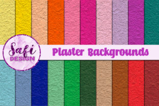 Print on Demand: Plaster Texture Backgrounds Graphic Backgrounds By Safi Designs