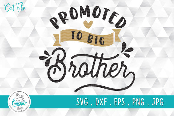 Promoted to Big Brother Graphic Crafts By EasyConceptSvg