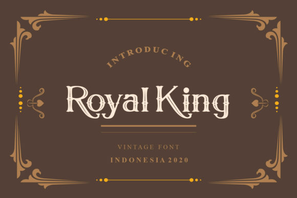 Print on Demand: Royal King Serif Font By Maulana Creative