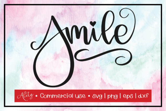 Print on Demand: Smile | Quotes Calligraphy Graphic Crafts By Ality