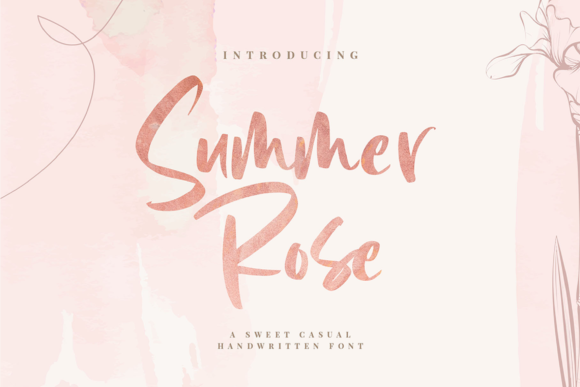 Print on Demand: Summer Rose Script & Handwritten Font By Graphue