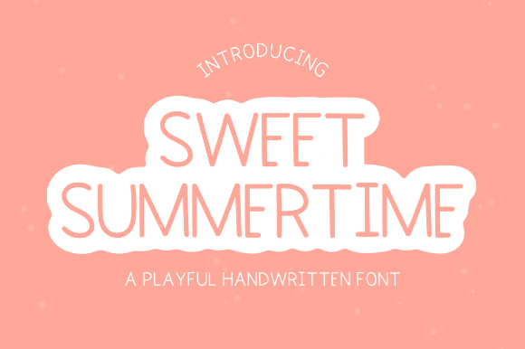 Print on Demand: Sweet Summertime Script & Handwritten Font By Sage Makers