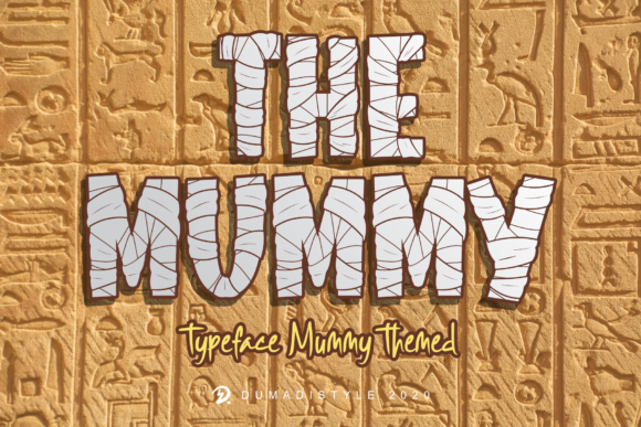 Print on Demand: The Mummy Display Font By DUMADI