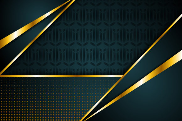 Print on Demand: Halftone Gold Geometric Background Graphic Backgrounds By noory.shopper