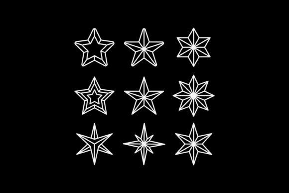 Print on Demand: Star Pictogram Graphic Icons By sabavector
