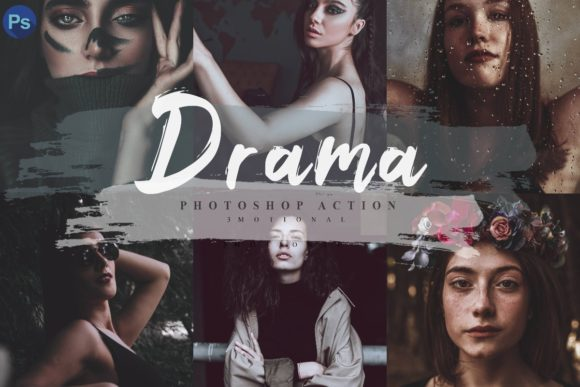 Print on Demand: 14 Drama Photoshop Actions Graphic Actions & Presets By 3Motional