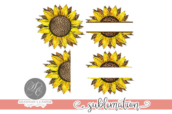 Print on Demand: Animal Print Sunflower Bundle   Graphic Illustrations By Shannon Casper