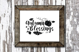 Print on Demand: Autumn Blessings Graphic Crafts By KtwoP