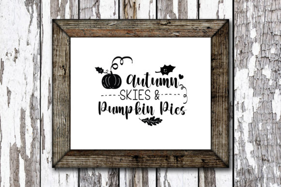 Print on Demand: Autumn Skies & Pumpkin Pies Graphic Crafts By KtwoP