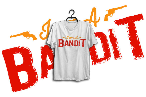 Print on Demand: Bandit Songs T-shirt Design for Graphic Print Templates By Graphicflow