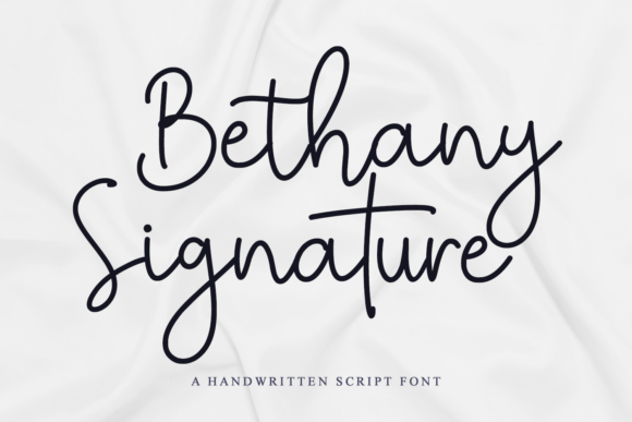Print on Demand: Bethany Signature Script & Handwritten Font By Girinesia