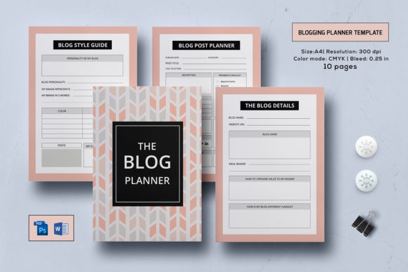 Print on Demand: Blog Post Planner Kit  Graphic Print Templates By sistecbd