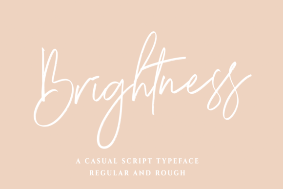 Print on Demand: Brightness Script & Handwritten Font By Mozarella
