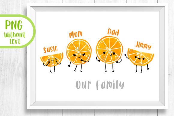 Cartoon Family Portrait Funny Wall Art Graphic Illustrations By GreenWolf Art