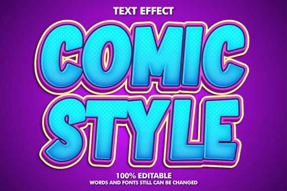 Comic Text Effect Graphic Layer Styles By memetxsaputra