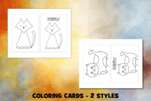 Print on Demand: Cute Cat Coloring Pages Set Graphic Coloring Pages & Books Kids By Janet's Cute Designs 3