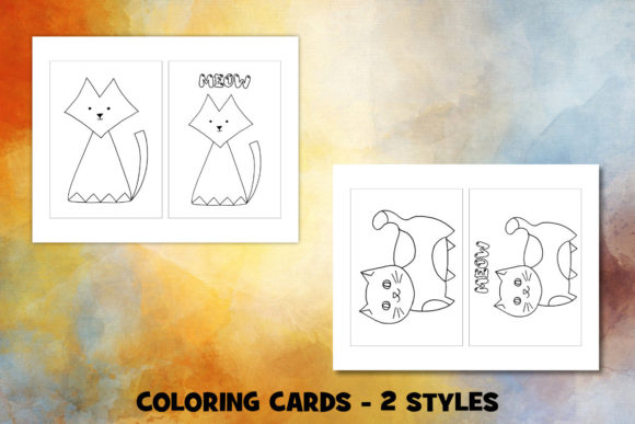Print on Demand: Cute Cat Coloring Pages Set Graphic Coloring Pages & Books Kids By Janet's Cute Designs - Image 3