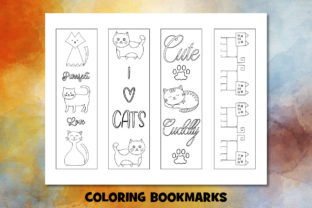 Print on Demand: Cute Cat Coloring Pages Set Graphic Coloring Pages & Books Kids By Janet's Cute Designs 4