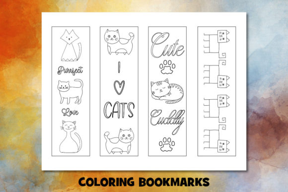 Print on Demand: Cute Cat Coloring Pages Set Graphic Coloring Pages & Books Kids By Janet's Cute Designs - Image 4