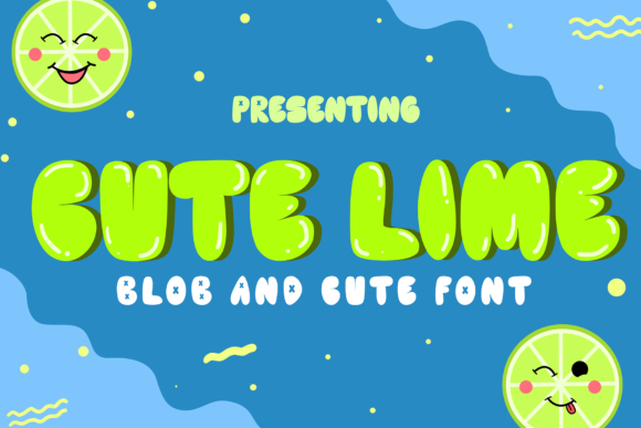 Print on Demand: Cute Lime Display Font By sipanji figuree