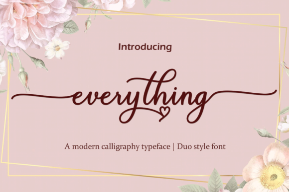 Print on Demand: Everything Script & Handwritten Font By Naqsya.Co