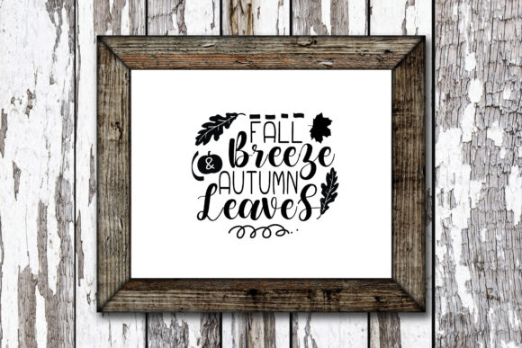 Print on Demand: Fall Breeze Autumn Leaves Graphic Crafts By KtwoP