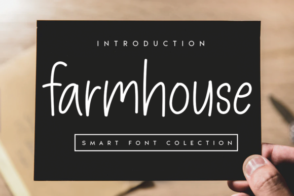 Print on Demand: Farmhouse Manuscrita Fuente Por andikastudio
