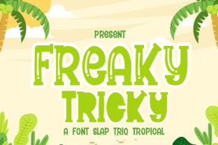 Print on Demand: Freaky Tricky Display Font By jehansyah251