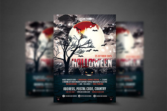 Halloween Flyer Template 2 Graphic Print Templates By Ciusan