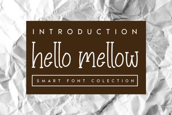 Print on Demand: Hello Mellow Serif Fuente Por andikastudio