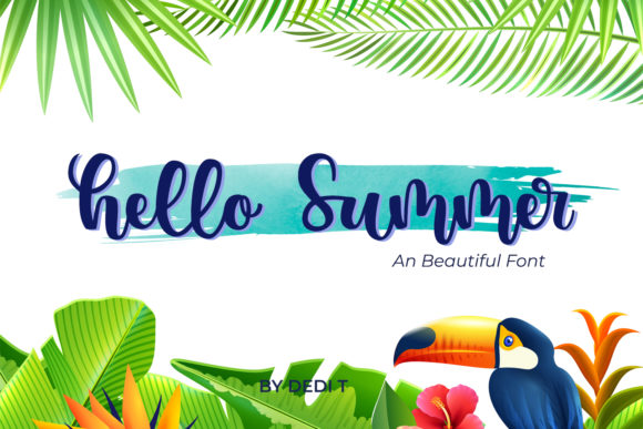 Print on Demand: Hello Summer Script & Handwritten Font By miracleboykenzie