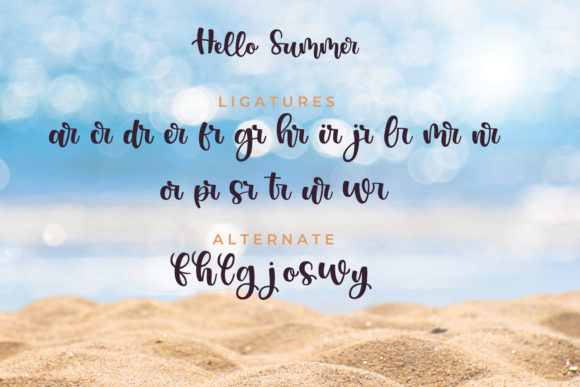 Print on Demand: Hello Summer Script & Handwritten Font By miracleboykenzie - Image 10