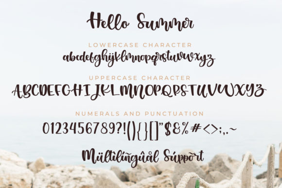 Print on Demand: Hello Summer Script & Handwritten Font By miracleboykenzie - Image 8