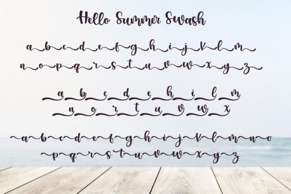 Print on Demand: Hello Summer Script & Handwritten Font By miracleboykenzie - Image 9