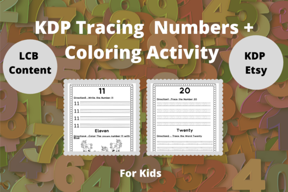 Print on Demand: KDP Tracing Numbers + Coloring Activity Graphic KDP Interiors By Proobeyda