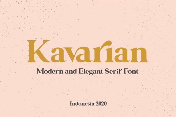 Print on Demand: Kavarian Serif Font By Maulana Creative