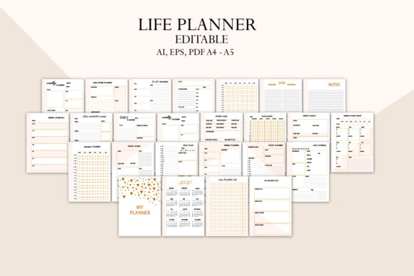 Lie Planner, Family Planner Graphic Graphic Templates By Igraphic Studio