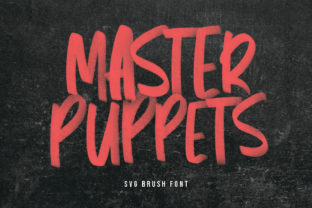 Print on Demand: Master Puppets Display Font By Maulana Creative