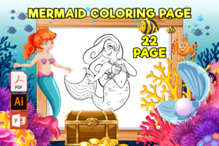 Print on Demand: Mermaid Coloring Pages for Girls Graphic Coloring Pages & Books Kids By MK DESIGNS