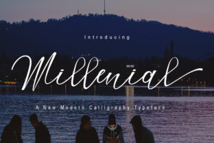 Print on Demand: Millenial Script & Handwritten Font By Polem