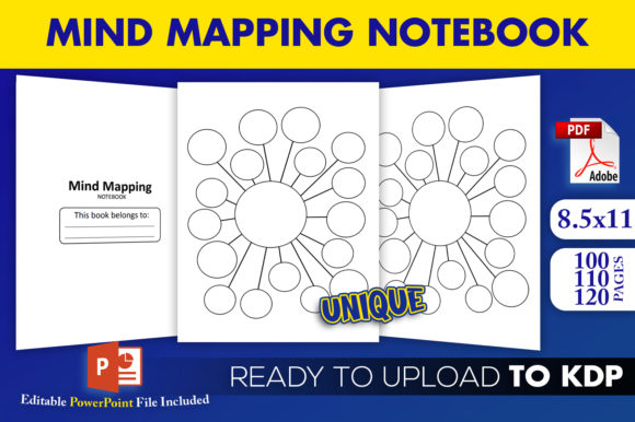 Print on Demand: Mind Mapping Notebook | KDP Interior Graphic KDP Interiors By Beast Designer - Image 1