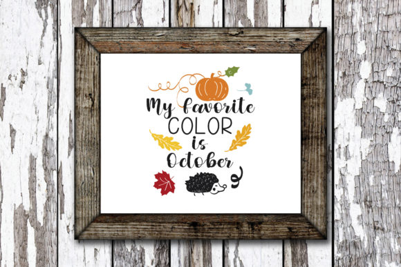 Print on Demand: My Favorite Color is October Graphic Crafts By KtwoP