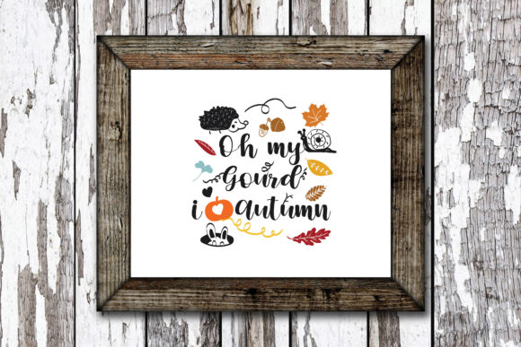 Print on Demand: Oh My Gourd, I Love Autumn Graphic Crafts By KtwoP