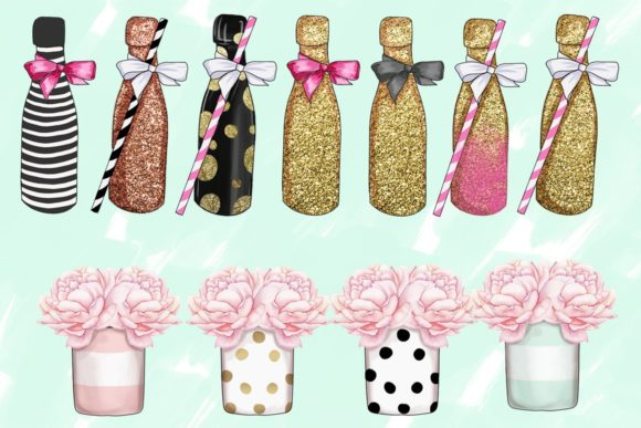 Print on Demand: Planner Girl Clipart Set Graphic Illustrations By TheGGShop - Image 3