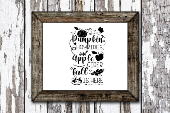 Print on Demand: Pumpkin Hayrides Autumn Quote Graphic Crafts By KtwoP